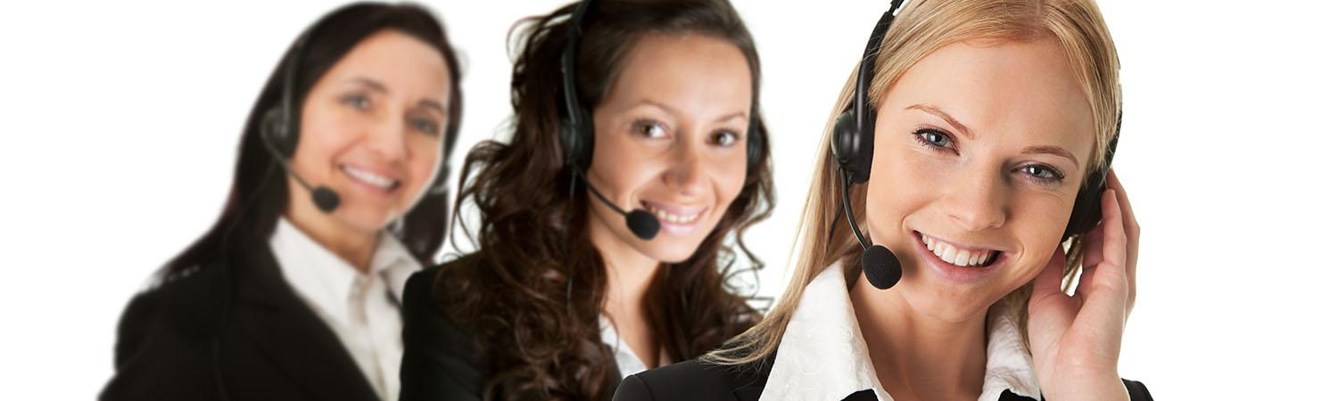Smiling call centre people hero image