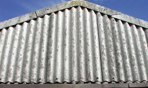 Corrugated asbestos roofing